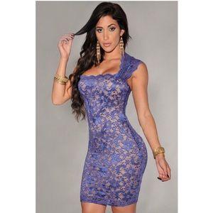 Dresses & Skirts - 💙NEW LISTING!💙 Royal Blue Lace Illusion Dress